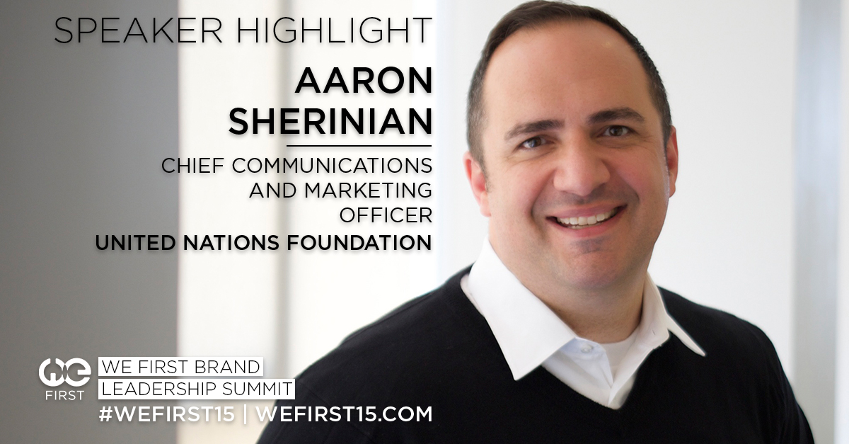 aaron-sherinian, united-nations-foundation, we-first